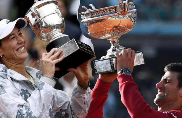 Djokovic e Muguruza i campioni